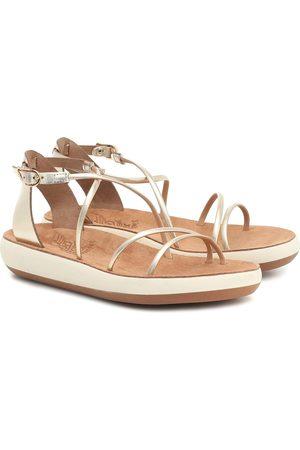 Ancient Greek Sandals Sandales Anastasia Comfort en cuir métallisé