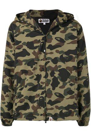 BAPE Camouflage print hooded jacket