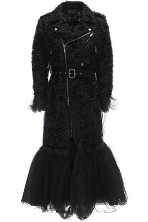 NOIR KEI NINOMIYA Trench-coat En Nylon Brodé Et Tulle