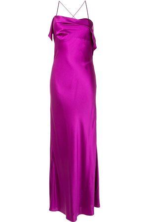 Michelle Mason Robe longue à col drapé