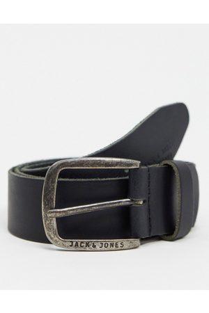 Jack & Jones Ceinture en cuir lisse avec boucle à logo