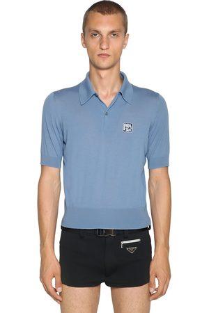 Prada Polo En Laine Avec Patch Logo