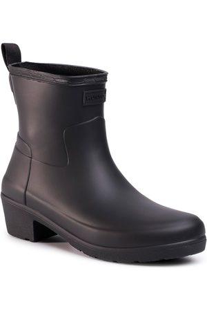 Hunter Bottes de pluie - Refined Low Heel Ankle Biker Black