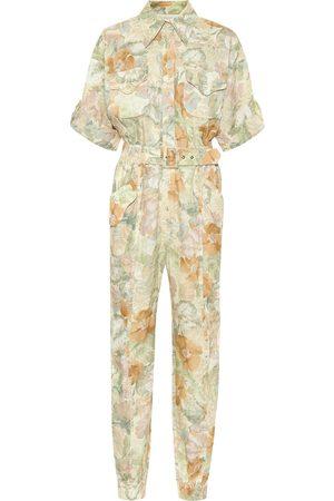 ZIMMERMANN Combi-pantalon Glassy imprimée en lin