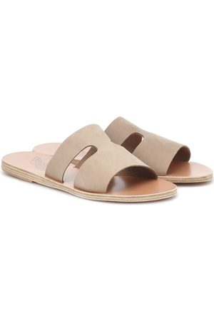 Ancient Greek Sandals Mules Apteros en daim