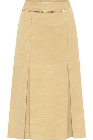 Victoria Beckham Jupe midi en lin et coton