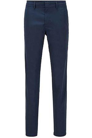 HUGO BOSS Homme Pantalons classiques - Pantalon Slim Fit en twill technique déperlant
