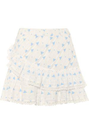 LOVESHACKFANCY Exclusivité Mytheresa – Mini-jupe Emma en coton