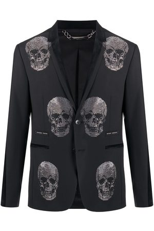 Philipp Plein Embellished Skull blazer