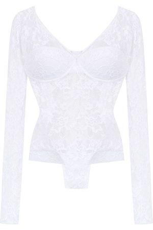 AMIR SLAMA Long sleeved lace bodysuit