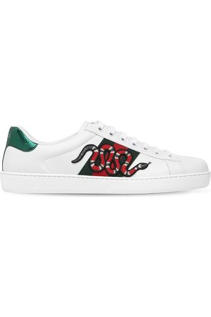 "Gucci Sneakers En Cuir ""snake New Ace"""