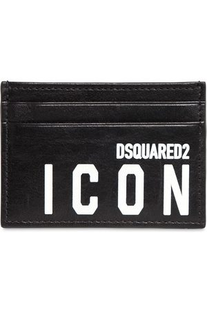 Dsquared2 Porte-cartes En Cuir Imprimé Icon