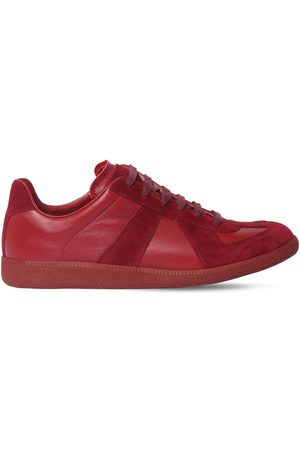 "Maison Margiela Sneakers Basses En Cuir Et Daim ""replica"""