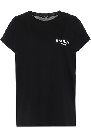 Balmain T-shirt en coton à logo