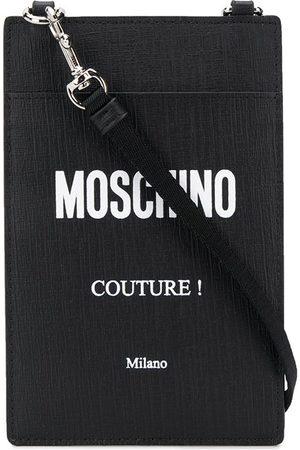 Moschino Porte-cartes à lanière logo