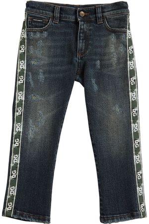 Dolce & Gabbana Jean En De Coton Stretch Avec Bandes Logo