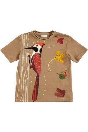 Dolce & Gabbana T-shirts - T-shirt En Jersey De Coton Imprimé Pivert