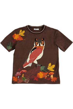 Dolce & Gabbana T-shirt En Jersey De Coton Imprimé Hibou
