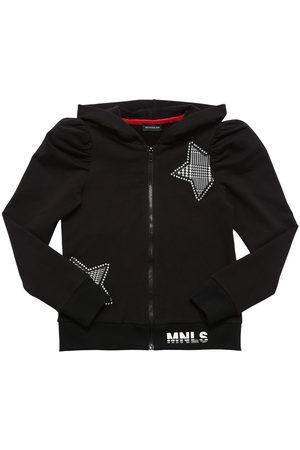 MONNALISA Sweat-shirt Zippé En Coton À Capuche