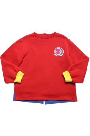 Marni Sweat-shirt En Coton Avec Patch Logo