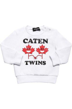 """Dsquared2 Fille Sweatshirts - Sweat-shirt En Coton Imprimé """"twins"""""""
