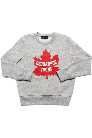 Dsquared2 Fille Sweatshirts - Sweat-shirt En Coton À Imprimé Logo