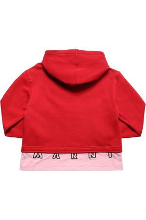 Marni Fille Gilets - Sweat-shirt Zippé En Coton À Capuche