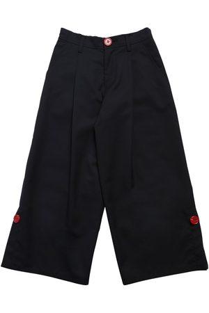 Marni Fille Leggings & Treggings - Pantalon Ample En Laine Mélangée