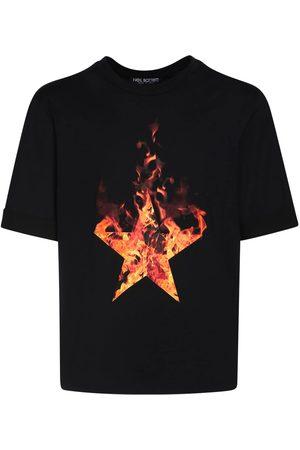 Neil Barrett Homme T-shirts - T-shirt En Jersey De Coton Imprimé Étoile