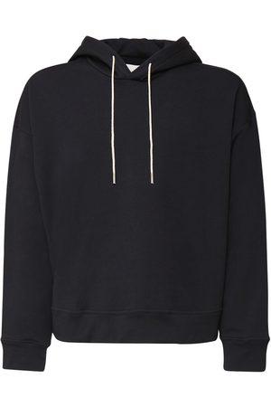 Jil Sander Homme Sweatshirts - Logo Embroidery Organic Cotton Hoodie