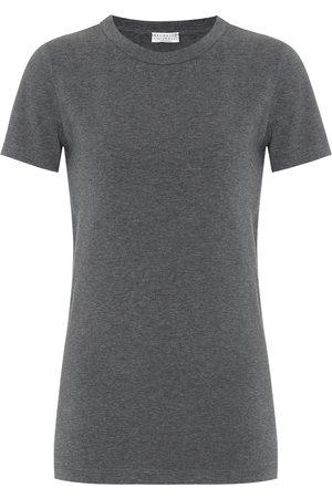 Brunello Cucinelli T-shirt en coton mélangé