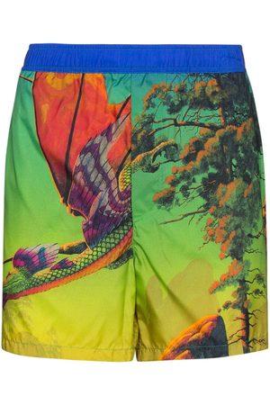 VALENTINO Homme Shorts de bain - Short de bain imprimé Dragon At Dawn