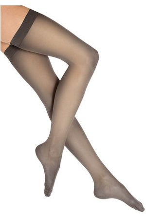 Wolford Bas Autofixant Individual 10 Auto-fixant Femme Transparent Stay-Up 10 DENIER