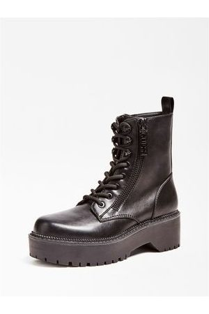 Guess BOTTINES STYLE MILITAIRE TAYTE ZIP LOGOTYPÉE