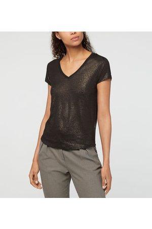 IKKS T-shirt droit lin métallisé
