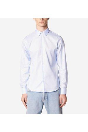 Sandro Chemise droite bleu ciel en coton