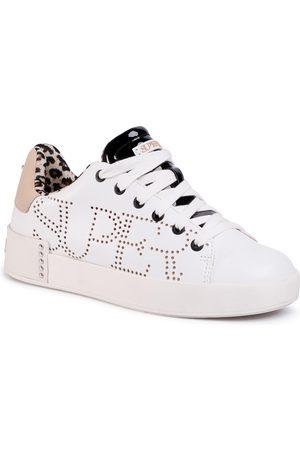 SuperTrash Femme Baskets - Sneakers - Lewi Lsr W 2011 030501 Wht/Nud 1929