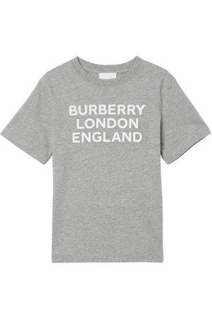 Burberry T-shirt En Jersey De Coton Logo Imprimé