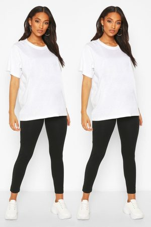 Boohoo Lot De 2 Leggings De Maternité Couvrant Le Ventre
