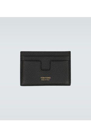 Tom Ford Porte-cartes T Line en cuir