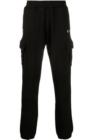 OFF-WHITE OW LOGO CARGO SWEATPANT BLACK WHITE