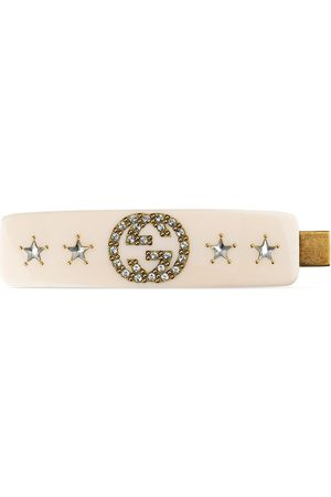 Gucci Crystal interlocking G hair slide