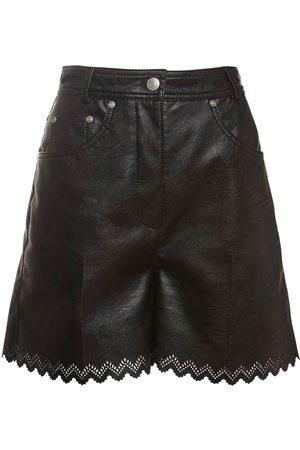 Stella McCartney Short En Simili Cuir Taille Haute