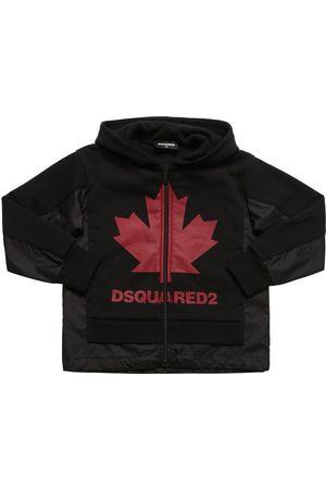 Dsquared2 Sweat-shirt Zippé En Coton Et Nylon