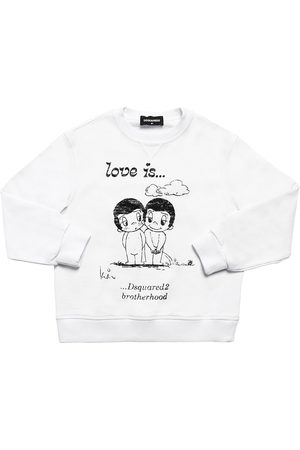 """Dsquared2 Sweat-shirt En Coton Imprimé """"love Is Capsule"""""""