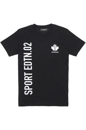 Dsquared2 T-shirt En Jersey De Coton Imprimé Sport