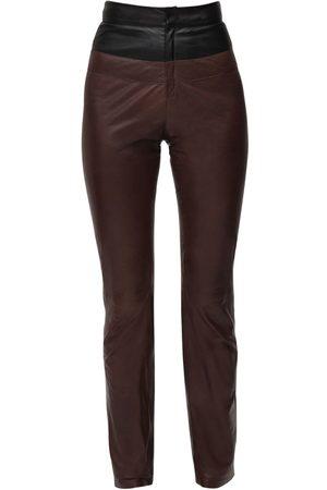Zeynep Arcay Pantalon En Cuir Bicolore