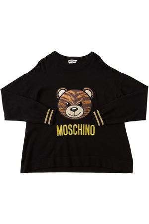 Moschino Pull-over En Maille Avec Patch Ours