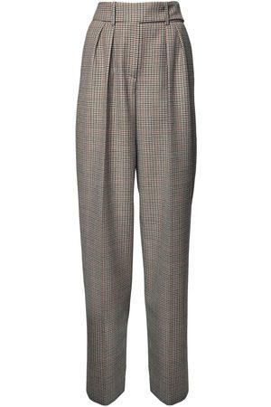 ALEXANDRE VAUTHIER Pantalon Ample Motif Prince De Galles Taille Haute