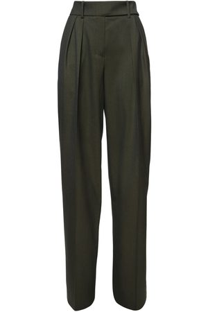 ALEXANDRE VAUTHIER Pantalon Ample En Flanelle De Laine Taille Haute
